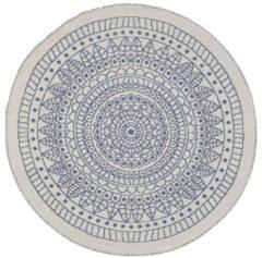 Blauwe Beliani Yalak Vloerkleed Synthetisch Materiaal 140 X 140 Cm