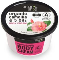 Organic Shop Biologische Camellia & 5 Oliën Lichaamscrème Japanse Camellia 250ml