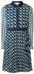 Donkerblauwe Damsel in a Dress Emory mini blousejurk met grafische print