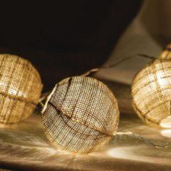 Bruine Kabeldirect HQ Lichtslinger bal 10 LED