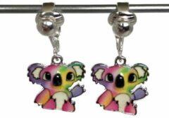 Paarse MNQ bijoux - Clipoorbellen - Oorclips - Kind - Meisje - Koala - Roze - Hangoorbellen