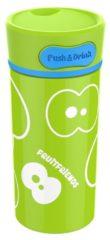 Groene Fruitfriends Drinkbeker Push - RVS - 300 ml - Lime Groen