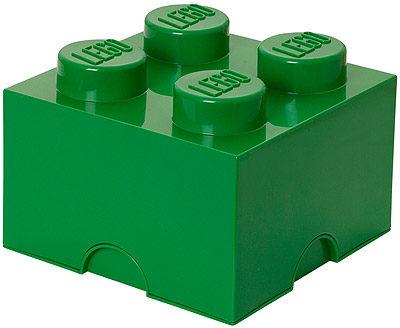 Afbeelding van Donkergroene Lego Storage Brick 4 - 25 cm x 25 cm x 18 cm - Donker Groen