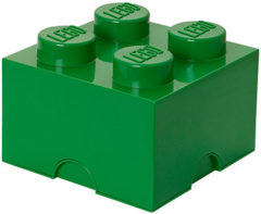 Donkergroene Lego Storage Brick 4 - 25 cm x 25 cm x 18 cm - Donker Groen