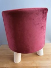 Rode Mica Decorations Desiree stool d.red H36xD30cm