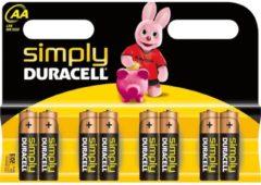 DURACELL Alkaline Batterie 'simply' Mignon AA, 8er Blister