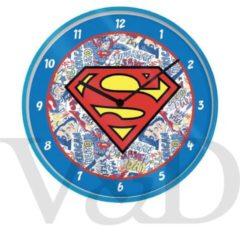 Blauwe Hole in the Wall Wall clock superman