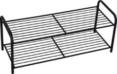 LOFT42 Lace Schoenenrek - Metaal - Mat Zwart - 70x29x27