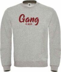 Bordeauxrode Merkloos / Sans marque Wintersport sweater grijs Gang is alles - soBAD.