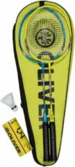 Blauwe Oliver Badminton Set Speedpower 2 rackets + 3 shuttles