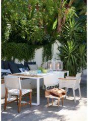 Outdoor-Stuhl IMPRESSIONEN living weiß/natur