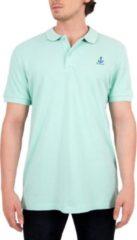 Witte BiggDesign Anemoss-Sailing- Poloshirt-Mint-56x76cm-M AnemosS Heren T-shirt Maat M