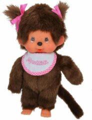 Oku Monchhichi Speelgoed | Plush - 20 Cm Meisje Met Slab Roze