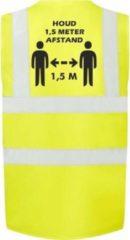 Merkloos / Sans marque Geel Corona/COVID-19 vest/hesje 1,5 meter afstand voor volwassenen - Veiligheidsvest werkkleding - RIVM regels/richtlijnen - Flatten the curve - Stay safe