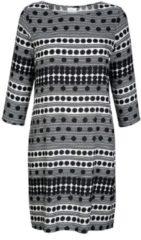 Kleid Alba Moda Grau/Weiß/Schwarz
