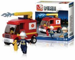 Sluban Bouwstenen Fire Serie Kleine Tankautospuit Bouwstenen Fire Serie Kleine Tankautospuit