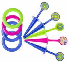 Lg-imports Gooispel Junior 25 Cm Blauw/groen/roze 9-delig