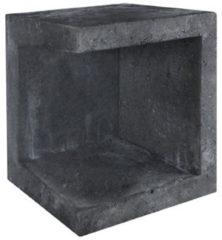 Zwarte Gardenlux U-element hoek zwart 40x40x50 cm