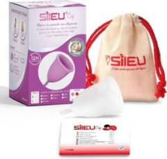 Sileu Rose Medium menstruatiecup - transparant - maat S