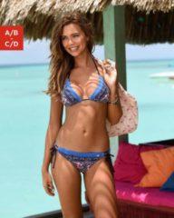 Rosa Jette Triangel-Bikini mit Paisleydruck