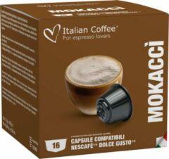Italian Coffee - Mokaccino Italiano - 16x stuks - Dolce Gusto compatibel