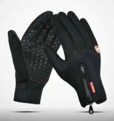 Zwarte Merkloos / Sans marque Waterafstotende Touchscreen Handschoenen Neopreen – Sporthandschoenen - Hardloophandschoenen – Fietshandschoenen - Uniseks – Maat S