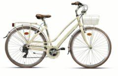 28 Zoll Damen City Fahrrad 21 Gang Montana Lunapiena Wham creme