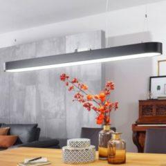 Wohnling LED-Deckenleuchte LINE Matt schwarz Metall EEK A+ Büro-Deckenlampe 48 Watt 120 x 121 x 15 cm Design Arbeitsplatz Hängelampe 4080 Lumen kaltw