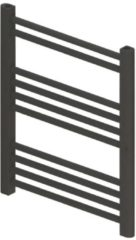 Antraciet-grijze BWS Designradiator Boss & Wessing Vertico Multirail 60x50 cm Antraciet Zij-Onderaansluiting