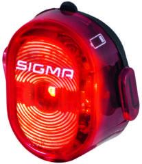 Zwarte Sigma Sport Sigma NuggetII LED Fiets Achterlicht - USB-oplaadbaar