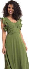 Voodoo Vixen Lange jurk -L- Amelia Olive Groen