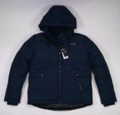 Brams Paris Gibson heren winterjas donkerblauw - maat M