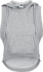 Urban Classics Ladies Hooded Terry Tank Top donna grigio
