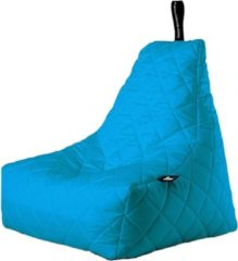 Turquoise Extreme Lounging b-bag - Luxe zitzak - Indoor en outdoor - Waterafstotend - 95 x 95 x 90 cm - Polyester - Quilted Aquablauw
