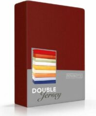Dubbel Jersy Hoogwaardige Dubbel Jersey Hoeslaken Lits-Jumeaux Bordo | 180x200/210/220 + 200x200 | Zacht En Dik | Rondom Elastiek