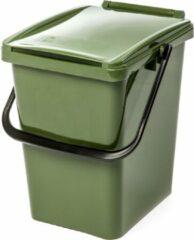 Kliko afvalbak 10 liter - groen - met deksel - GFT - afval scheiden - 30 cm hoog - 10 l