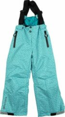 Turquoise Ducksday - skibroek met bretellen voor kinderen - waterdicht - unisex - Karo - 146/152