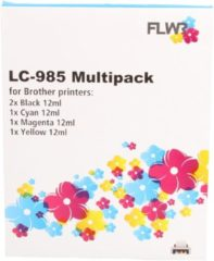 FLWR FLWR Brother LC-985 Multipack zwart en kleur Cartridge