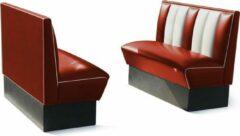 Rode Bel Air Dinerbank Single Booth HW-120 Ruby