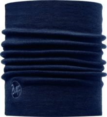 Blauwe Buff Nekwarmer Merino Wool Thermal - Denim - Unisex - Maat One Size