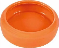 Oranje Trixie Voerbak Drinkbak Konijn Keramiek 13 CM 400 ML