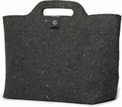 Grijze Cortina Sofia Shopper Bag Recycled textiel Enkele fietstas - 18 liter - Bl/Antraciet/Zwart