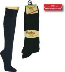 SOCKS4FUN Bamboe sokken - kniekousen - 2 paar - zwart - maat 39/42
