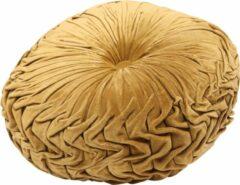 Gouden Mycha Ibiza - Velvet - fluweel - rond - sierkussen - 45cm - koper