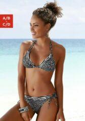 Zwarte LASCANA triangel-bikinibovenstukje »Safari«