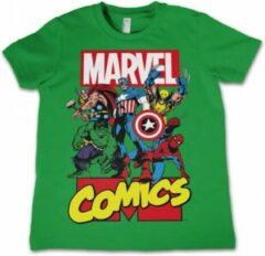 MARVEL COMICS - T-Shirt KIDS Comics Heroes - groen (12 Years)