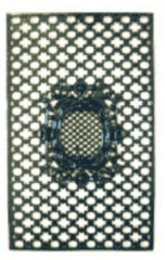 Zwarte Nostalux Deurrooster H:97 x B:60 Medaillon R 459