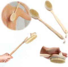 Bruine Merkloos / Sans marque Lichaamborstel voor onder de douche