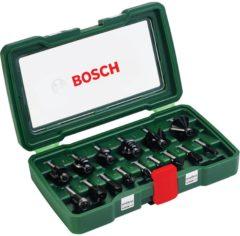 Bosch accessoire Bosch Houtfrezen - � 8 mm schacht - 15-delig - geschikt voor alle merken