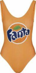 Oranje Merchcode Retro Fanta Logo Swimsuit Zwempak